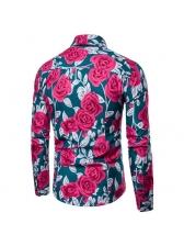 Vintage Elegant Floral Shirts For Men