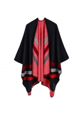 Warm Contrast Color Striped Shawls