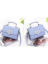 Sweet Heart Solid Color Shoulder Bags