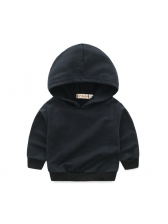 Fashion Gradient Hooded Collar Boys Sets