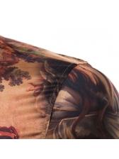 Vintage Fashion Printing Long Sleeve Shirts
