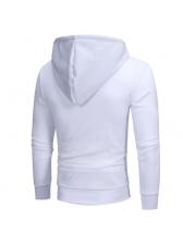 Fashion Bias Zipper Design Casual Hoodies