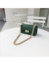 Korean Solid Color Hasp Chain Shoulder Bags
