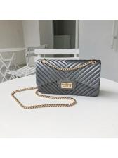 Elegant Hasp Chain Shoulder Bags