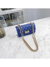 Korean Geometric Rivet Chain Shoulder Bags