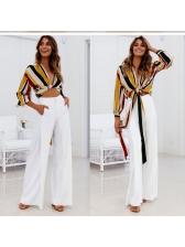 Cozy High Waist Solid Color Long Pants