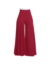 Fashion Solid Pleated Wide Leg Pants