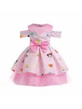 Euro Odd Shoulder Fluffy Girls Dress