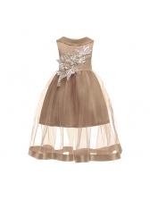 Euro Embroidery Sleeveless Christmas Maxi Dress