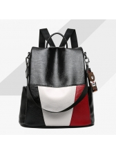 Soft Colorblock College Casual Backpacks