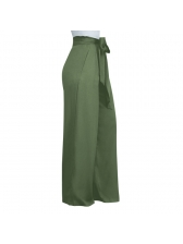 Euro Tie-Wrap Wide Leg Casual Female Pants