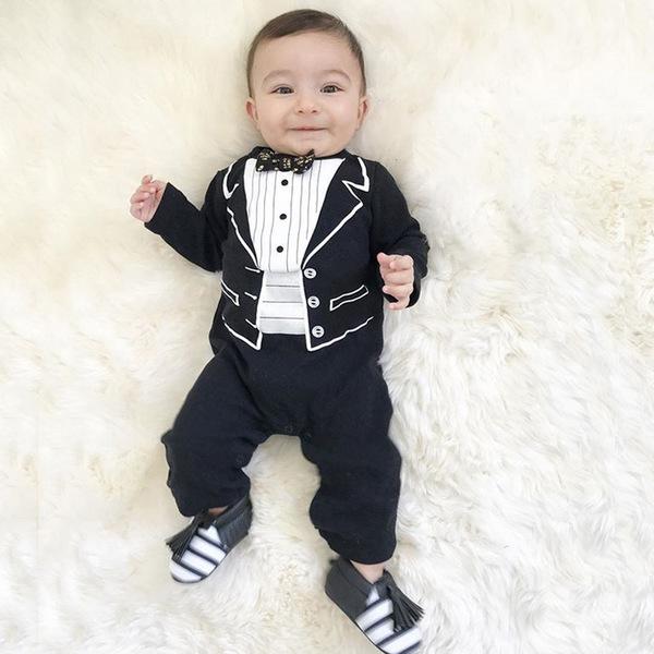 Euro Long Sleeve Fashion Baby Jumpsuit