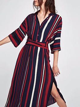 New Arrival Striped Multicolored Dress