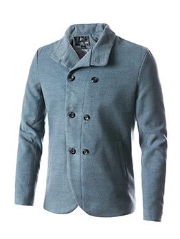 Gentle Double-breasted Turndown Collar Coat