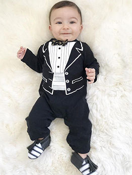 Euro Long Sleeve Fashion Baby Jumpsuit