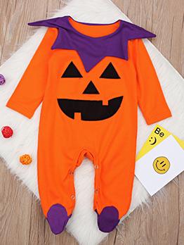 Halloween Printed Long Sleeve Infant Jumpsuit