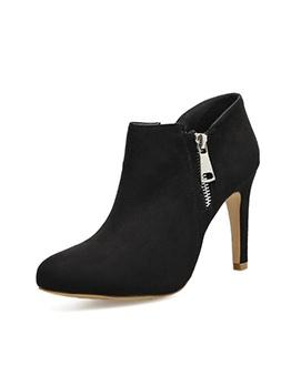 Winter Zipper Up Thin Heel Female Boots