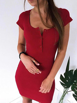Chic Solid Sexy Fitted Dress
