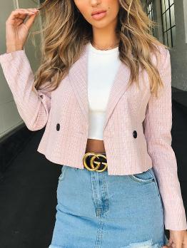 Hot Sale Solid Lapel Collar Women Suit Coat