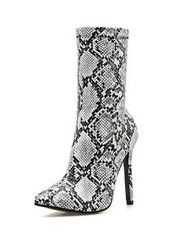 Euro Hot Sale Snake Print Stilettos Heel Boots