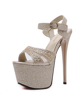 Sexy Diamond Super High Heel Platforms Pumps