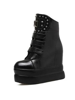 Euro Rivet Platform Black Martin Boots