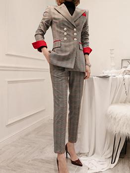 New Arrival Plaid Business Suit For Women