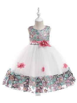 Hot Selling Lace Color Block Applique Princess Dresses