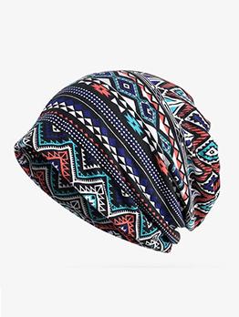 Outdoors Geometric Printing Warm Hats