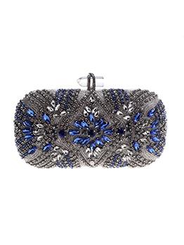 Fashion Rhinestone Design Hardness Clutch Bags