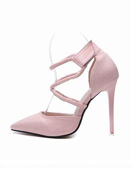 StilettoPointed Toe Thin Heel Velcro Pumps
