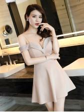Sexy Off Shoulder Low-cut Female Dress