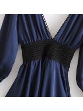 Fashion Solid Backless A Line Dress