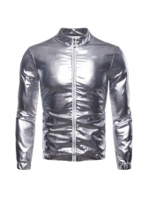 New Arrival Shiny Solid Color Jacket