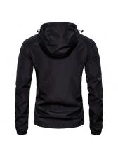British Style Zipper All Black Jacket