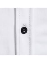 Characteristic Single-breasted Turndown Collar Long Sleeve Shirts