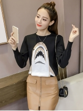 New Arrival Printed Loose Female Sweater