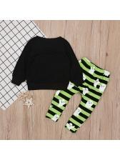 Striped Printed Long Sleeve Cute Boy Sets