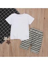 Summer Stripe Shorts Fashion Boy Sets