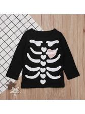 Chic Bone Printed Long Sleeve T-Shirt