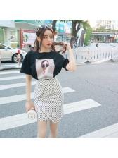 Korean Printing Polka Dots 2 Piece Outfit