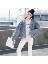 Fashion Hole Design Denim Jackets