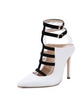 Euro Hot Sale Colorblock Hollow Out Stiletto Pumps