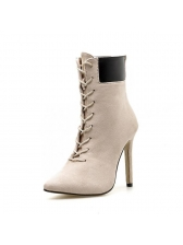 Sexy Large Size Pointed Thin Heel Boots