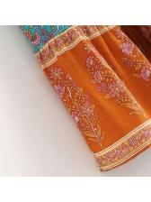 Elegant Floral Color Block High Waist Skirts