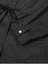 Fashion Solid Color Hooded Pocket Coats
