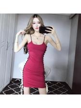 Sexy Low-cut Colorblock Straps Mini Dress