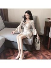 Korean Style Flare Sleeve Fishtail Dress