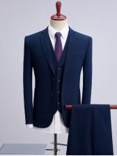 3 Pieces Fashion Fitted Business Men Suit