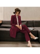 Korean Design Solid Casual OL Sets